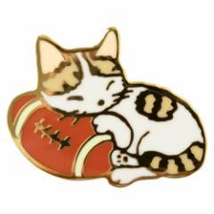 ピンズコレクション ラグビーまくら (PZ-68) ポタリングキャット Cat pins, Pottering cat