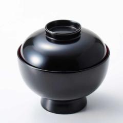 【蓋付き椀】雑煮椀 黒内朱 1客 (MK-358) Bowl with lid