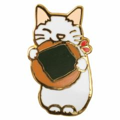 ピンズコレクション のりせんべい (PZ-62) ポタリングキャット Cat pins, Pottering cat