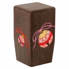 茶筒(大)002 鈴の木目込み細工 桐製・時代仕上 箱長の桐工芸品 Tea canister of Paulownia, Hakocho