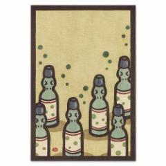和道楽 切り絵イラストポストカード しろたえ なつかしラムネ(1枚)