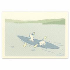 ポタリングキャット ポストカード 季節のカード カヌーのカード(KC-08)