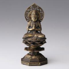 仏像・八体仏 高岡鋳物 勢至菩薩 15cm (BZ-005) 午年生まれのお守本尊 インテリア鋳造仏 Casting Buddha statue Takaoka imono Seish