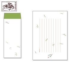 レターセット 徒然箋 末広松葉(便箋20枚+封筒5枚セット) (TS-007) 和詩倶楽部