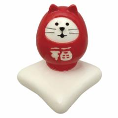 concombre 福猫だるま箸置き 紅 (ZCB-92695) 初春のおもてなし  New year tableware