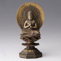 仏像・八体仏 高岡鋳物 大日如来 15cm (BZ-006) 未・申年生まれのお守本尊 インテリア鋳造仏 Casting Buddha statue Takaoka imono D