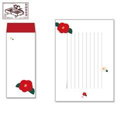 レターセット 徒然箋 七宝椿(便箋20枚+封筒5枚セット) (TS-008) 和詩倶楽部