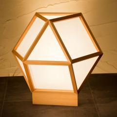 和風スタンドライト 行灯 的 mato 白×白 1灯タイプ (A522-A) 杉材と強化和紙の照明器具 LED電球対応 Japanese style floor lamp