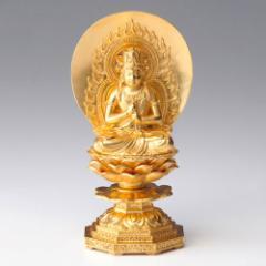 仏像・八体仏 高岡鋳物 大日如来(金箔) 15cm (BZ-006-AGH) 未・申年生まれのお守本尊 インテリア鋳造仏 Casting Buddha statue Tak