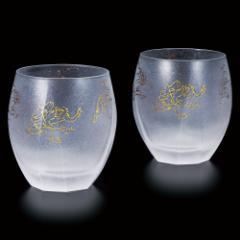 鳥獣戯画 オールド・ロックグラス ペアセット プレミアムニッポンテイストシリーズ Oldfashioned glass of Choju-giga