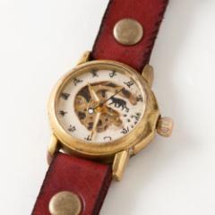 手作り和時計 機械式腕時計(手巻き) 猫 (W-001) Handmade Japanese watch, Mechanical watch