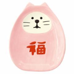 concombre 福猫だるま豆皿 桃 (ZCB-92698) 初春のおもてなし  New year tableware