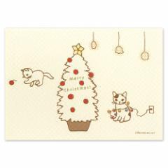 ポタリングキャット ポストカード 季節のカード クリスマスカード(XS-03)