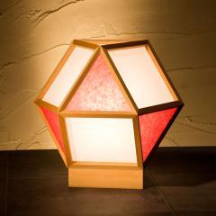 和風スタンドライト 行灯 的 mato 白×緋 1灯タイプ (A522-C) 杉材と強化和紙の照明器具 LED電球対応 Japanese style floor lamp