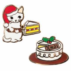 ポタリングキャット ピンズコレクション クリスマスケーキ(XS-01)