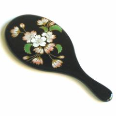 漆塗り 小判コンパクト手鏡 (SIB-124) 女性への誕生日プレゼントやお祝い、外国の方へのおみやげに