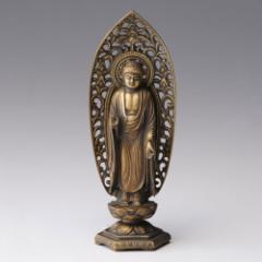 仏像・八体仏 高岡鋳物 阿弥陀如来像 15cm (BZ-008) 戌・亥年生まれのお守本尊 インテリア鋳造仏 Casting Buddha statue Takaoka imo