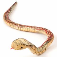 木製コブラ (KS) 木のおもちゃ 木製玩具 ※色・柄はお選びいただけません Wooden snake toy