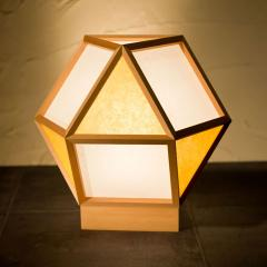 和風スタンドライト 行灯 的 mato 白×山吹 1灯タイプ (A522-E) 杉材と強化和紙の照明器具 LED電球対応 Japanese style floor lam