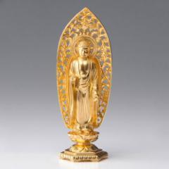 仏像・八体仏 高岡鋳物 阿弥陀如来像(金箔) 15cm (BZ-008-AGH) 戌・亥年生まれのお守本尊 インテリア鋳造仏 Casting Buddha statue