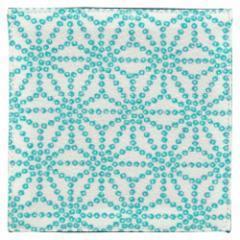 百道発信 しずく コースター 水色 (IKI-1472) 11×11cm 福岡県の布製品 Fabric coaster, Fukuoka craft