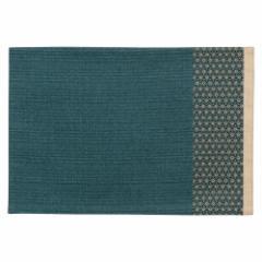 百道発信 夢つづり ランチョンマット 青 (IKI-1420) 45×31cm リバーシブル 福岡県の布製品 Fabric place mat, Fukuoka craft
