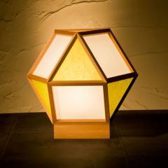 和風スタンドライト 行灯 的 mato 白×萌葱 1灯タイプ (A522-F) 杉材と強化和紙の照明器具 LED電球対応 Japanese style floor lam