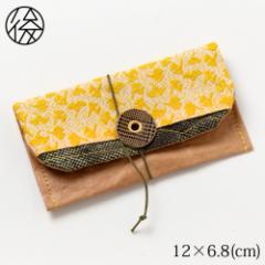 くるくる留めの名刺入れ 003 米袋封筒のちほど Business card holder made of rice bag