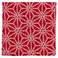 百道発信 しずく コースター 赤 (IKI-1472) 11×11cm 福岡県の布製品 Fabric coaster, Fukuoka craft