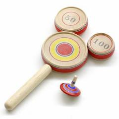 点とり独楽(こま) 山形県の木地玩具