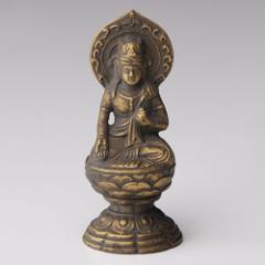 仏像・八体仏 高岡鋳物 虚空蔵菩薩 7cm (BZ-012) 丑・寅年生まれのお守本尊 インテリア鋳造仏 Casting Buddha statue Takaoka imono