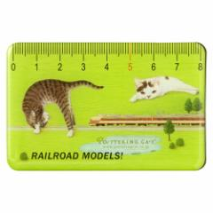 カードマグネット 鉄道模型1 グリーン (CM-05) ポタリングキャット Card magnet of cat illustration, Pottering cat
