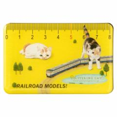 カードマグネット 鉄道模型2 イエロー (CM-06) ポタリングキャット Card magnet of cat illustration, Pottering cat
