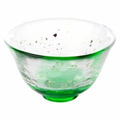 津軽びいどろ 盃・夕涼み (F-79472) 猪口 ガラス酒器 青森県の工芸品 Sake glass, Aomori craft
