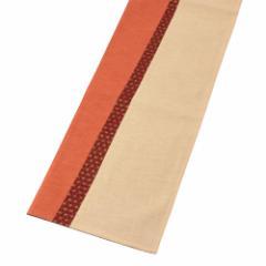百道発信 いろ葉 ランナークロス あんず (IKI-1489) 150×30cm 福岡県の布製品 Fabric table runner, Fukuoka craft