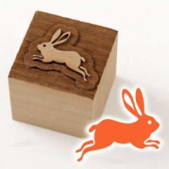 京からかみ 木版ミニスタンプ 添文 兎文A 京都府の工芸品 Karakami woodblock stamp