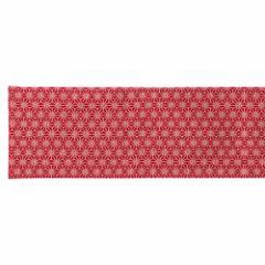 百道発信 しずく ランナークロス 赤 (IKI-1474) 130×25cm 福岡県の布製品 Fabric table runner, Fukuoka craft