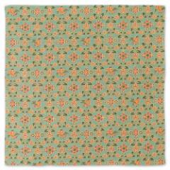 京都 あらいそ 綿風呂敷 唐草花鳥紋 緑 50cm