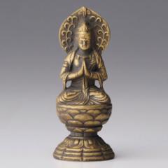 仏像・八体仏 高岡鋳物 勢至菩薩 7cm (BZ-015) 午年生まれのお守本尊 インテリア鋳造仏 Casting Buddha statue Takaoka imono Seishi