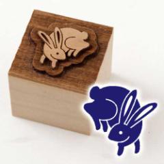 京からかみ 木版ミニスタンプ 添文 兎文B 京都府の工芸品 Karakami woodblock stamp