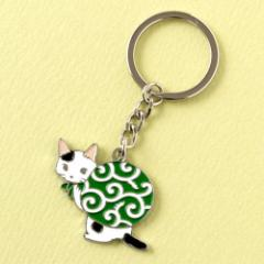 キーホルダー ドロボー猫 (KH-01) ポタリングキャット Cat illustration key ring, Pottering cat