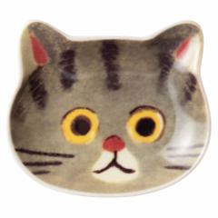猫顔の豆皿 さばとら (80844) ECOUTE! minette 小皿・トレー まあるいおめめのキュートな猫たち