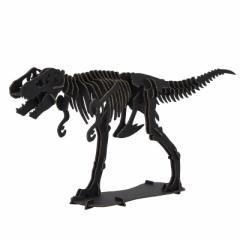 DINOSAUR恐竜骨格工作キット ティラノサウルス・ブラック ダンボールでつくる恐竜骨格 のりもはさみも使わずに組み立てられるペーパー