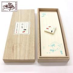 和詩倶楽部 桐箱入り一筆箋 涼箋(金魚) 100枚入 (KI-002)