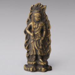 仏像・八体仏 高岡鋳物 不動明王 7cm (BZ-017) 酉年生まれのお守本尊 インテリア鋳造仏 Casting Buddha statue Takaoka imono Fudoum