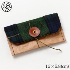 くるくる留めの名刺入れ 009 米袋封筒のちほど Business card holder made of rice bag