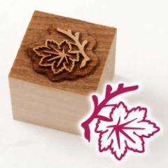 京からかみ 木版ミニスタンプ 添文 楓文B 京都府の工芸品 Karakami woodblock stamp