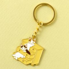 キーホルダー 引き出し (KH-03) ポタリングキャット Cat illustration key ring, Pottering cat