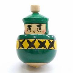 くるくると忍者が回る独楽 忍者ゴマ 山形県の木地玩具 ※色・柄はお選びいただけません