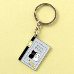 キーホルダー 大学ノート (KH-04) ポタリングキャット Cat illustration key ring, Pottering cat